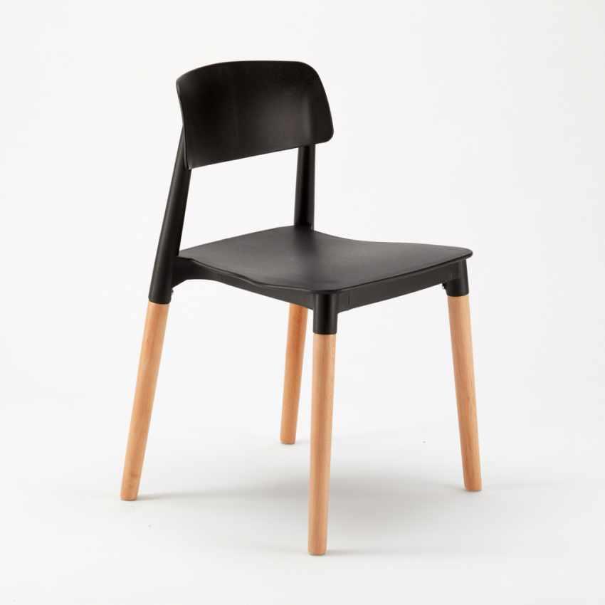 Sedie per Cucina e Bar Polipropilene e Legno Design Moderno Barcellona - dettaglio