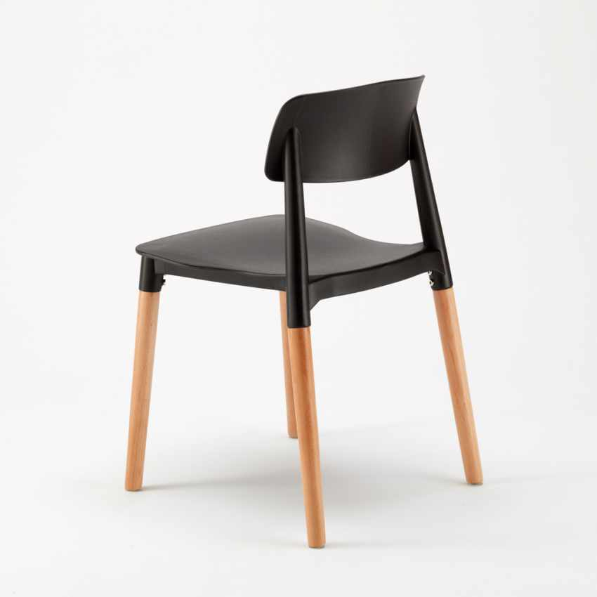 Sedie per Cucina e Bar Polipropilene e Legno Design Moderno Barcellona - migliore