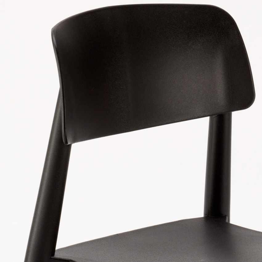 Sedie per Cucina e Bar Polipropilene e Legno Design Moderno Barcellona - arredamento