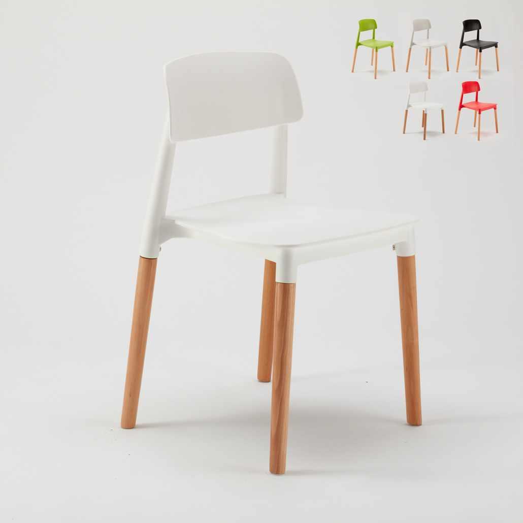 Sedie Per Esterno In Legno.Sedie Per Cucina E Bar Polipropilene E Legno Design Moderno Barcellona