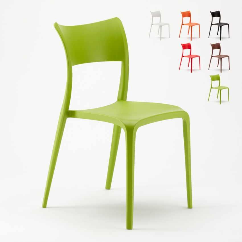 Sedia in Polipropilene Anti UV per Cucina Bar Ristorante e Giardino PARISIENNE - promo