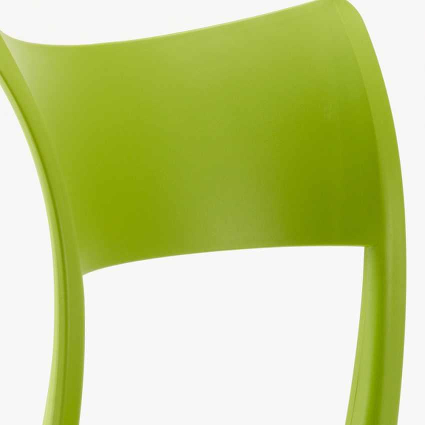 Sedia in Polipropilene Anti UV per Cucina Bar Ristorante e Giardino PARISIENNE - immagine