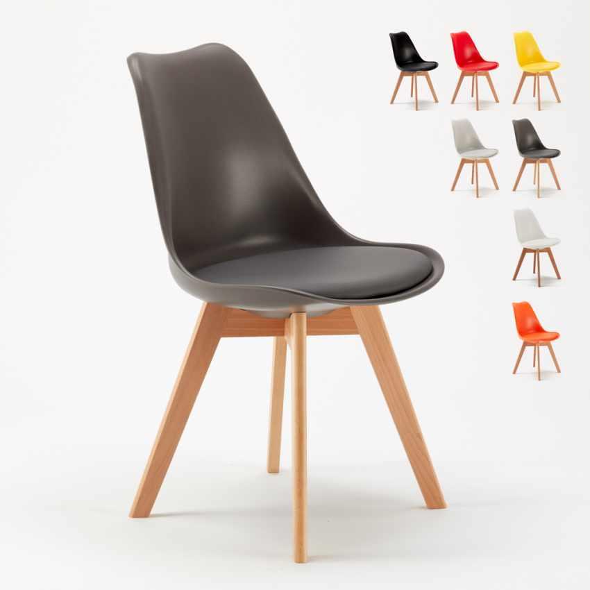 Sedie con Cuscino Design Scandinavo NORDICA per Bar e Cucina - scontato
