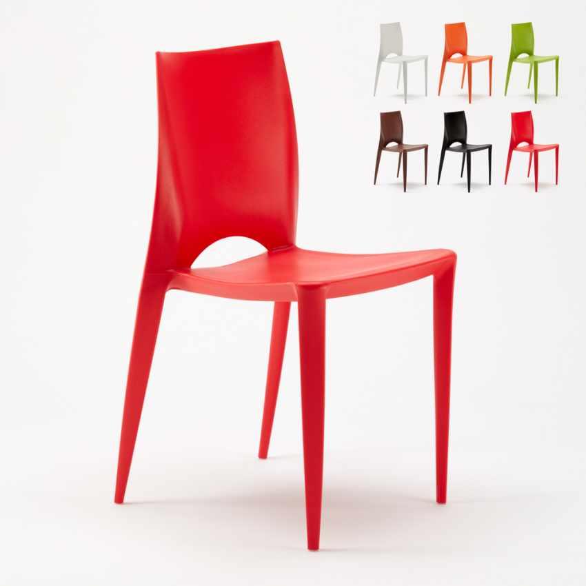 Sedie In Resina Colorate.Color Sedia Colorata Design Moderno Cucina Bar Giardino Color