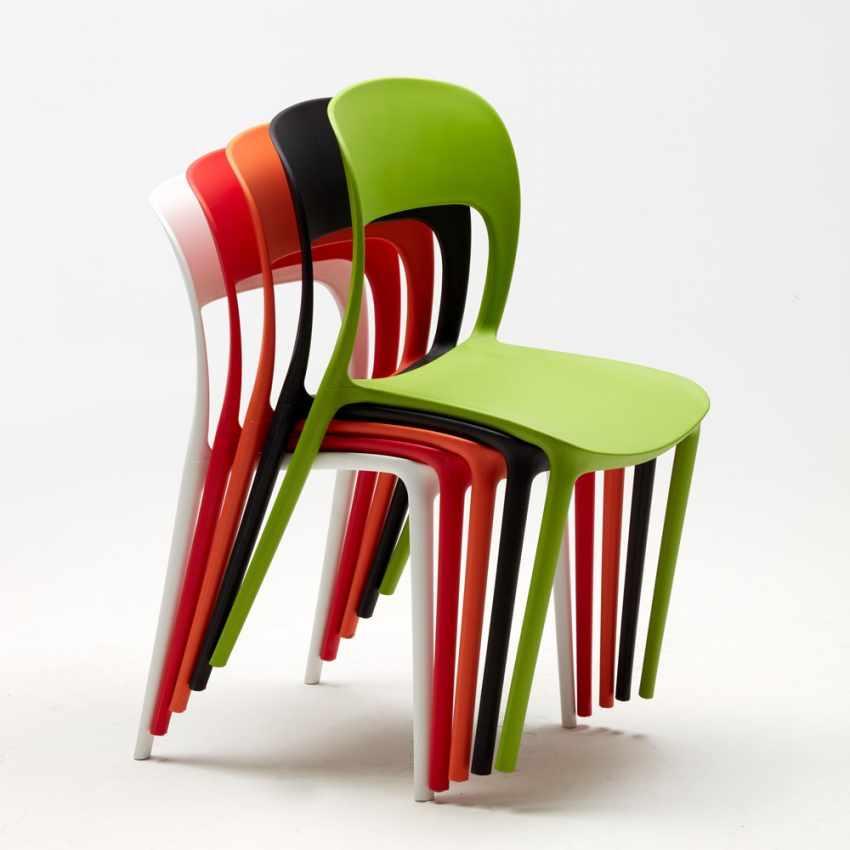 Sedia cucina casa bar ristorante in polipropilene colorate Design ...