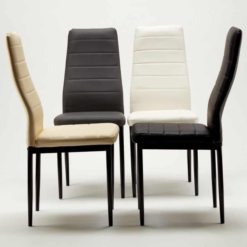 Set di 6 sedie da ristorante cucina sala da pranzo in for Sedie design sala da pranzo
