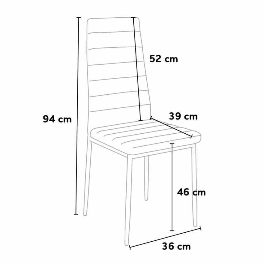 Set di 6 sedie da ristorante cucina sala da pranzo in for Sedie acciaio