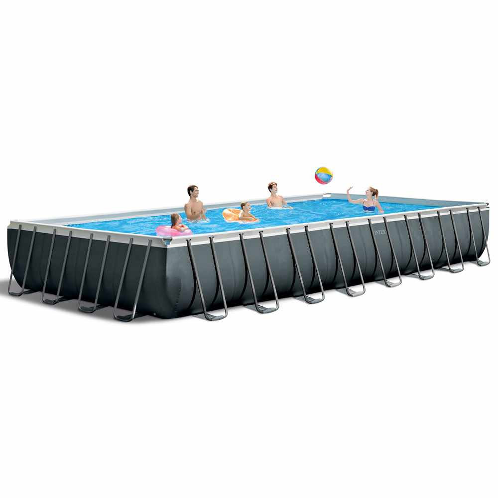 Arredi Per Piscine Esterne piscina fuori terra intex 26378 ex 26376 ultra xtr frame rettangolare  volley 975x488x132