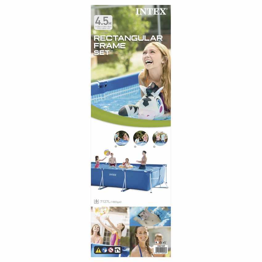 Piscina Fuori Terra Rettangolare 450x220x84 Intex Frame 28273 - vendita