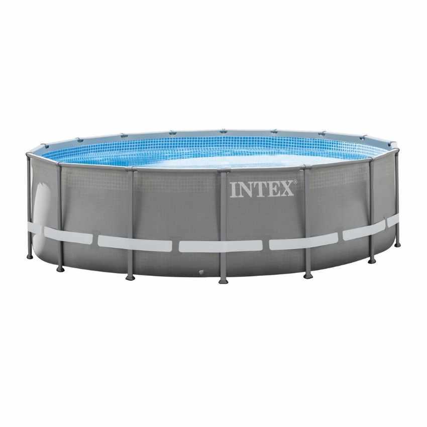 piscina fuori terra rotonda 488x122 intex ultra frame 26324. Black Bedroom Furniture Sets. Home Design Ideas