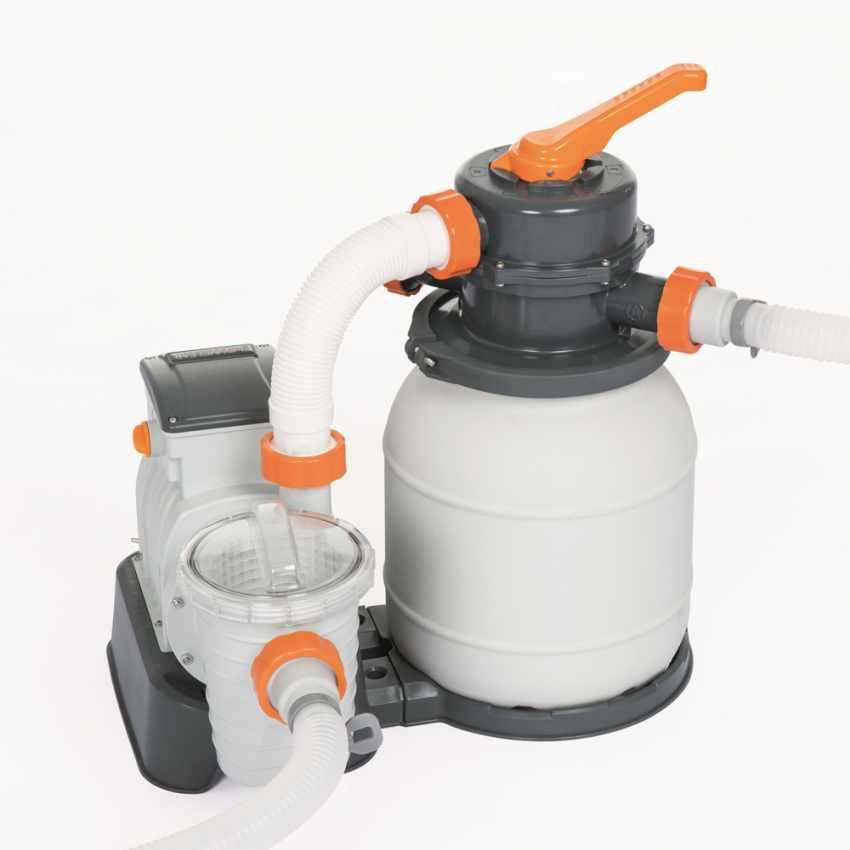 Bestway 58495 Flowclear Pompa filtro sabbia da 3785lt/h per piscina - immagine