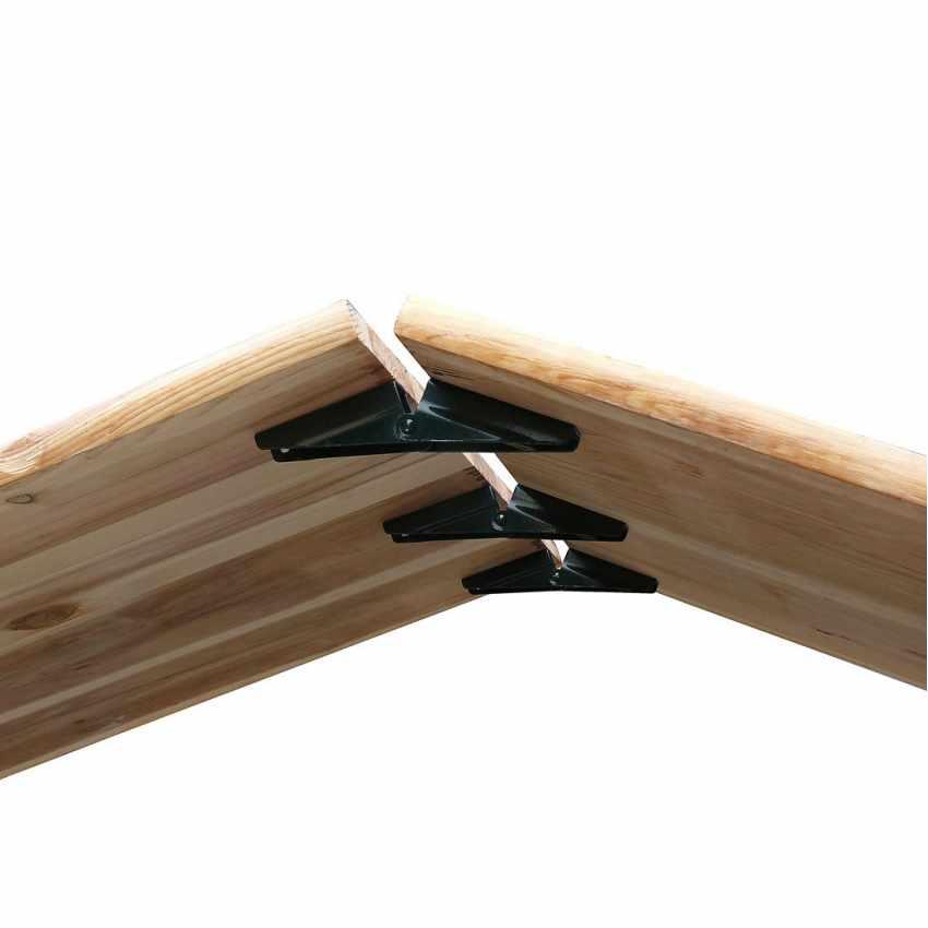Set panche e tavolo in legno pieghevoli per feste giardino - Tavolo e panche da giardino ...