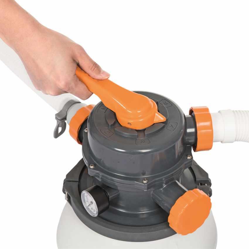 Bestway 58495 Flowclear Pompa filtro sabbia da 3785lt/h per piscina - foto