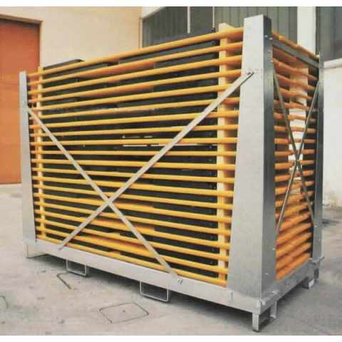 GZ20220 - Contenitore per tavoli e panche set birreria acciaio gabbia protezione 20 set 220x80 CAGEBOX - giallo