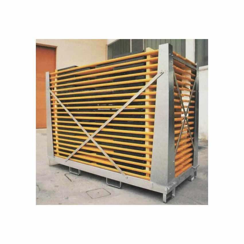 Gabbia Contenitore per Set Panche e Tavoli in Legno Capacità 10 Set - esterno