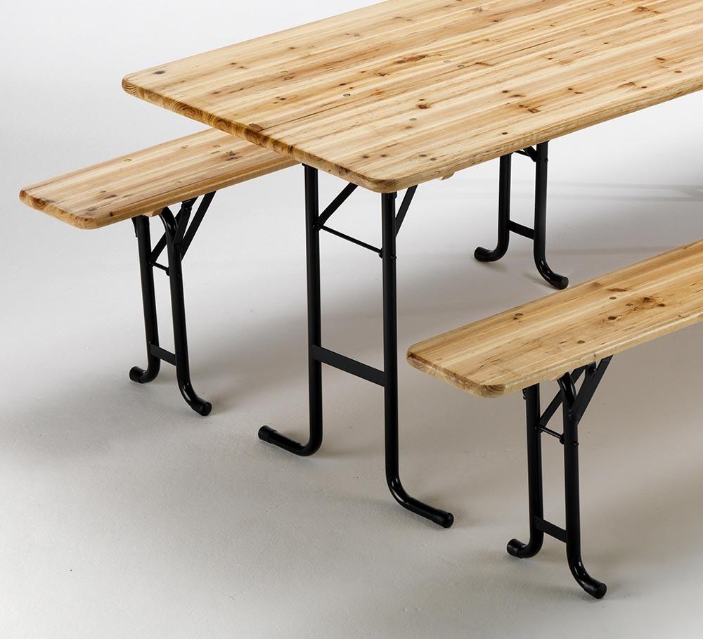 Tavoli E Panche Da Birreria Usati.10 Set Panche E Tavoli In Legno 3 Gambe Feste Esterni Giardini 220x80