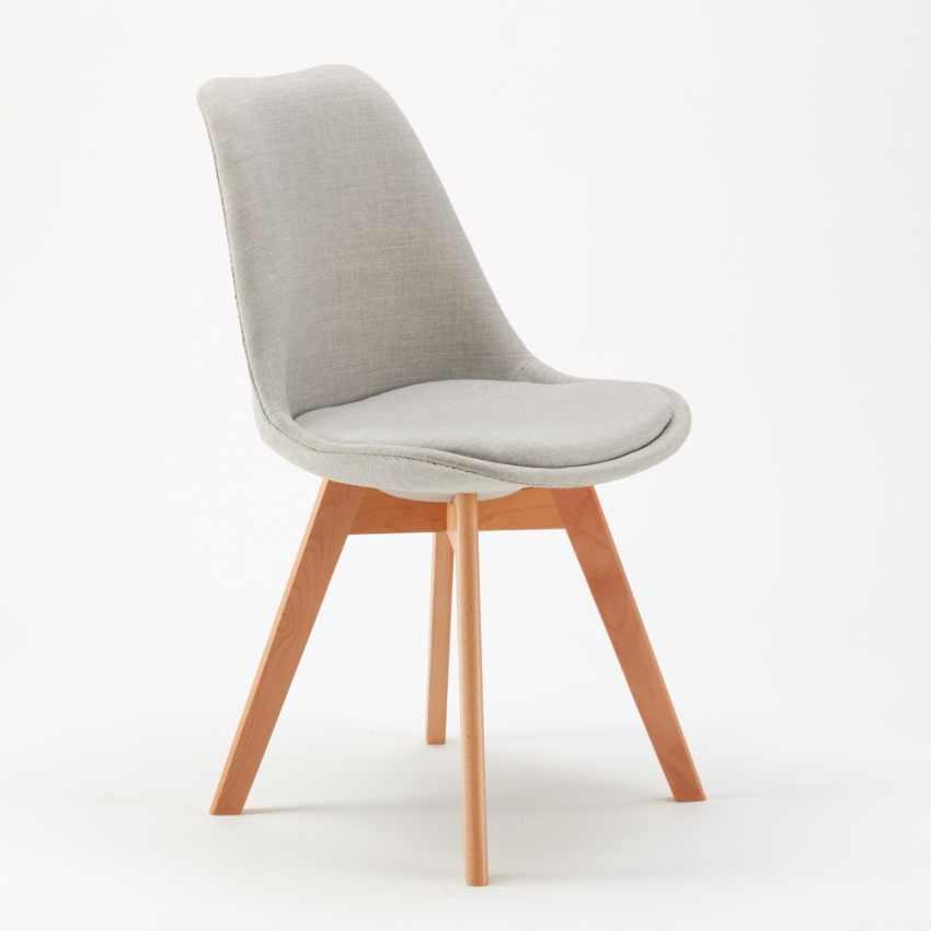 Stock 20 Sedie Con Cuscino Tessuto Design Scandinavo NORDICA PLUS Per Ristoranti E Bar - foto