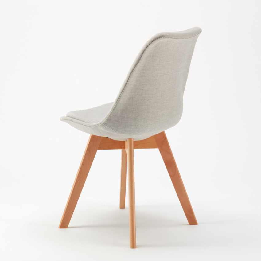 Stock 20 Sedie Con Cuscino Tessuto Design Scandinavo NORDICA PLUS Per Ristoranti E Bar - nuovo