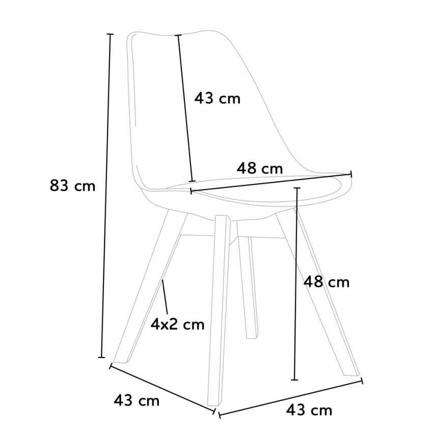 Stock 20 Sedie Con Cuscino Tessuto Design Scandinavo NORDICA PLUS Per Ristoranti E Bar - promo