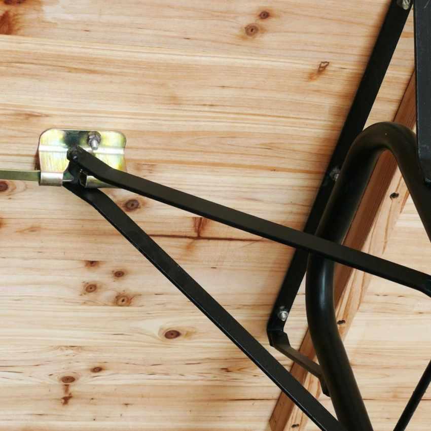 SB223LEG - Set birreria tavolo panche legno feste giardino sagre 220x80 3 gambe - nero
