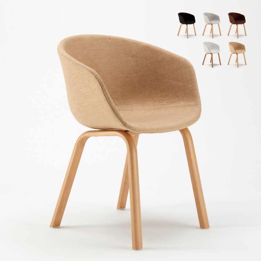 Stock 20 Sedie In Metallo Legno Tessuto Per Ristoranti Bar Design Scandinavo KOMODA - promo