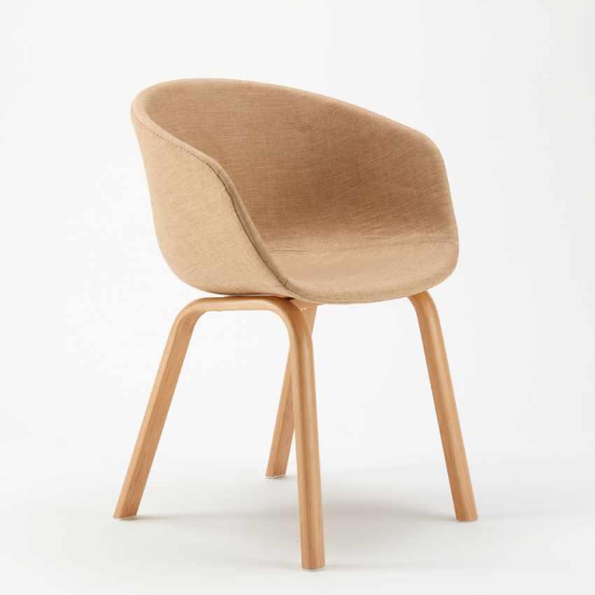 Stock 20 Sedie In Metallo Legno Tessuto Per Ristoranti Bar Design Scandinavo KOMODA - interno