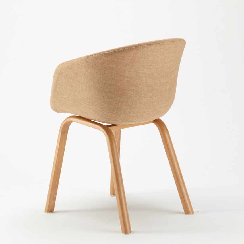 Stock 20 Sedie In Metallo Legno Tessuto Per Ristoranti Bar Design Scandinavo KOMODA - vendita