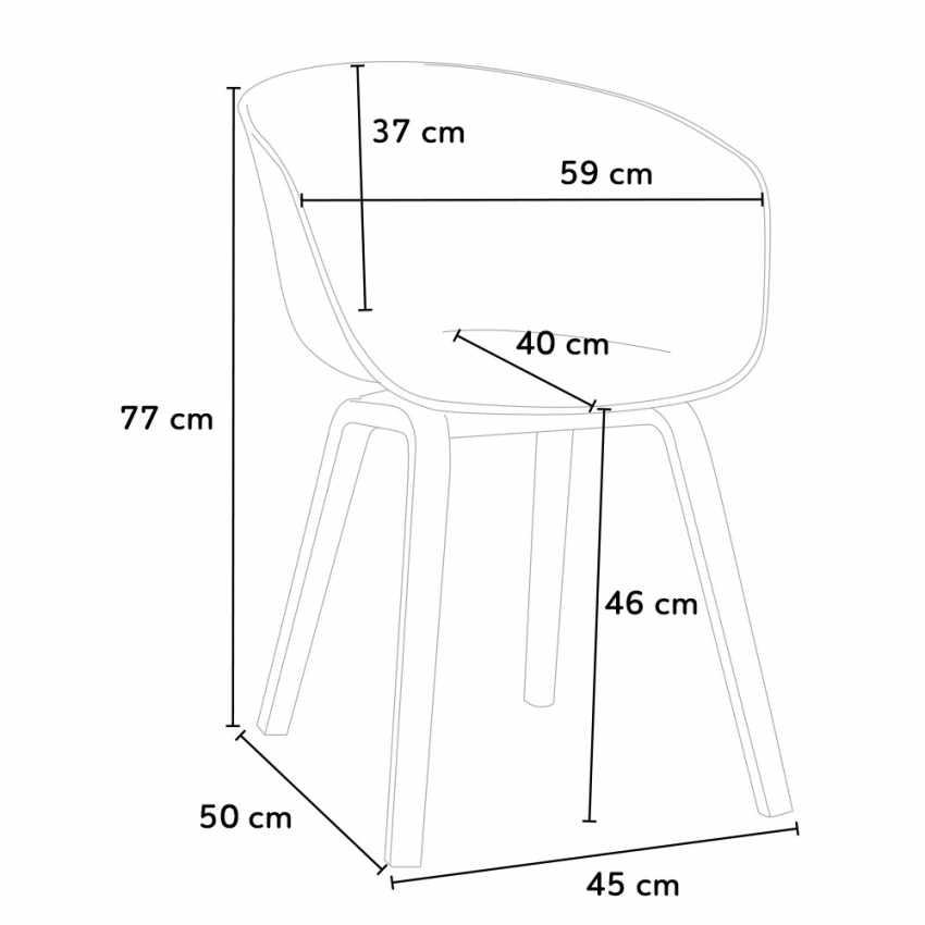 Stock 20 Sedie In Metallo Legno Tessuto Per Ristoranti Bar Design Scandinavo KOMODA - immagine
