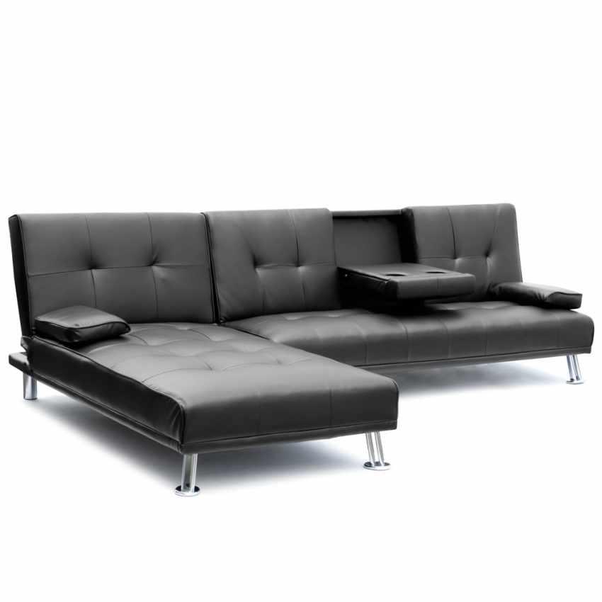 Divano letto ad angolo con bracciolo e penisola 3 posti cobalto per salotto e so ebay - Divano angolo letto ...