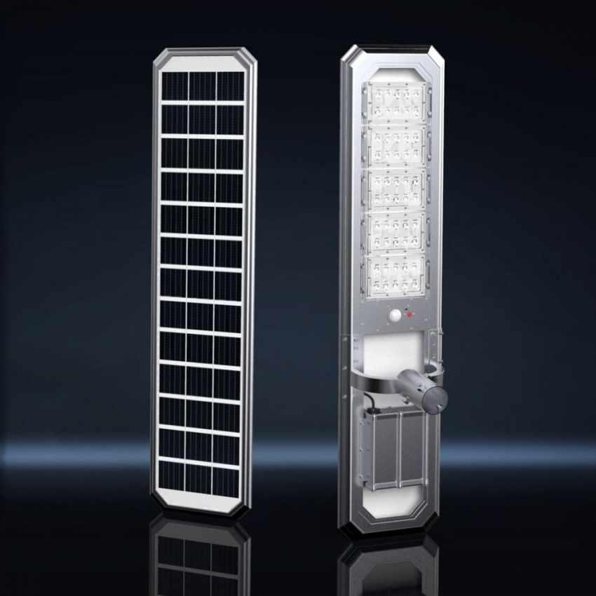 Lampione Solare LED con Pannello Integrato 5000 Lumen per Strade Giardini GOLDRAKE - nuovo