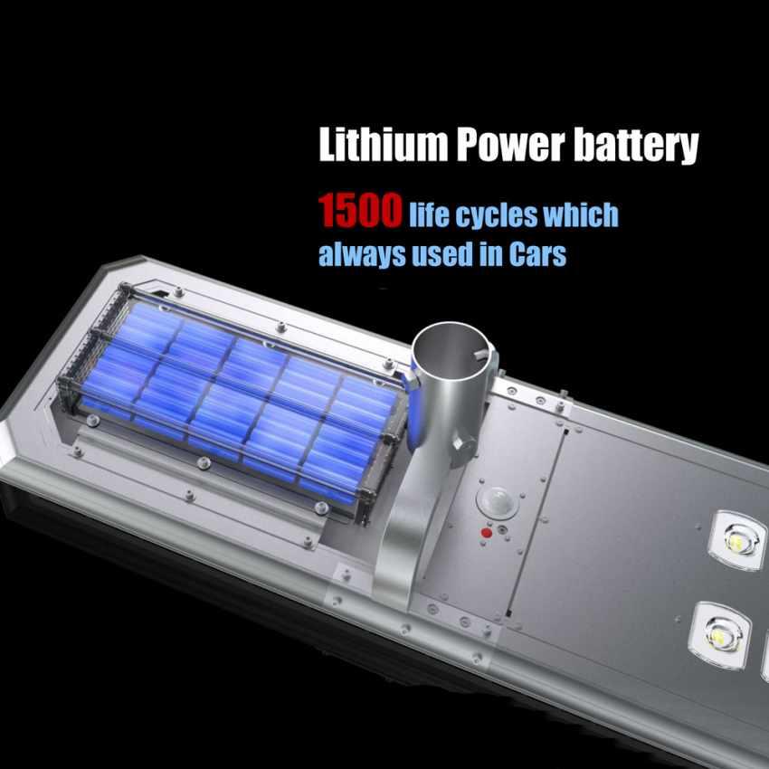 Lampione Stradale LED a Energia Solare 3000 Lumens con Pannello Integrato TERMINATOR - migliore