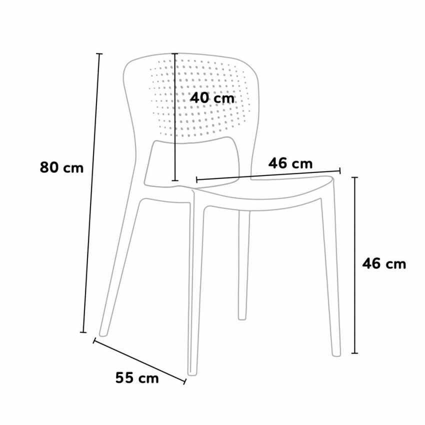 Offerta 20 Sedie di Design per Bar e Ristorante Interni ed Esterni GARDEN GIULIETTA - dettaglio
