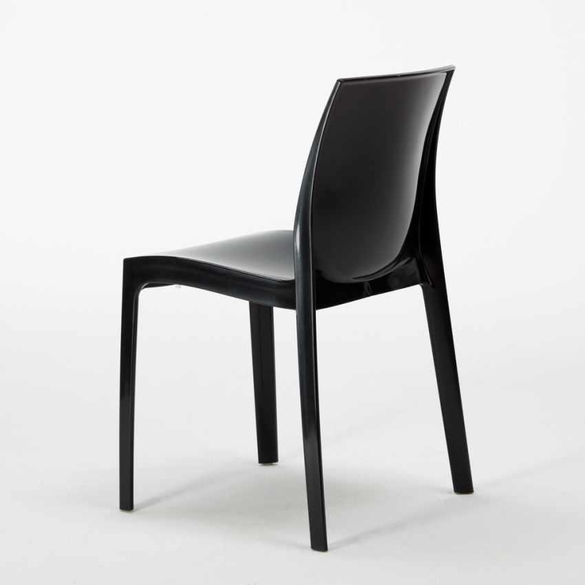 Tavolino Rotondo Nero 70x70cm Con 2 Sedie Colorate Interno Bar ICE COSMOPOLITAN - interno