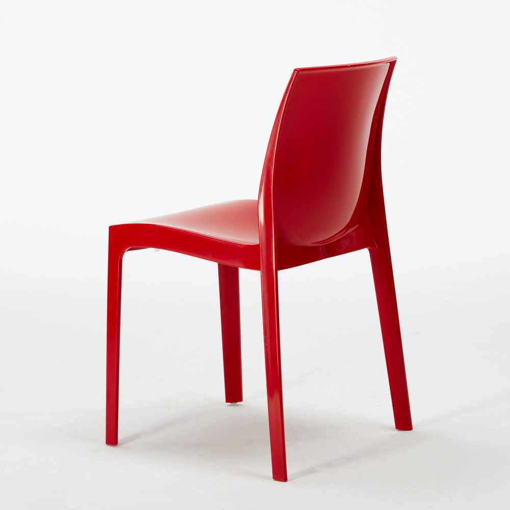 Tavolino Quadrato Bianco 70x70 + 2 Sedie Colorate Interno ...