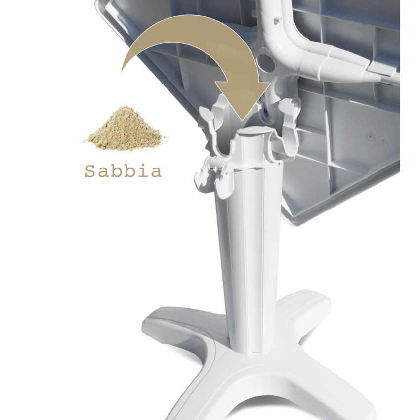 Tavolino Quadrato Bianco 70x70cm Con 2 Sedie Colorate Interno Bar ICE PATIO - esterno