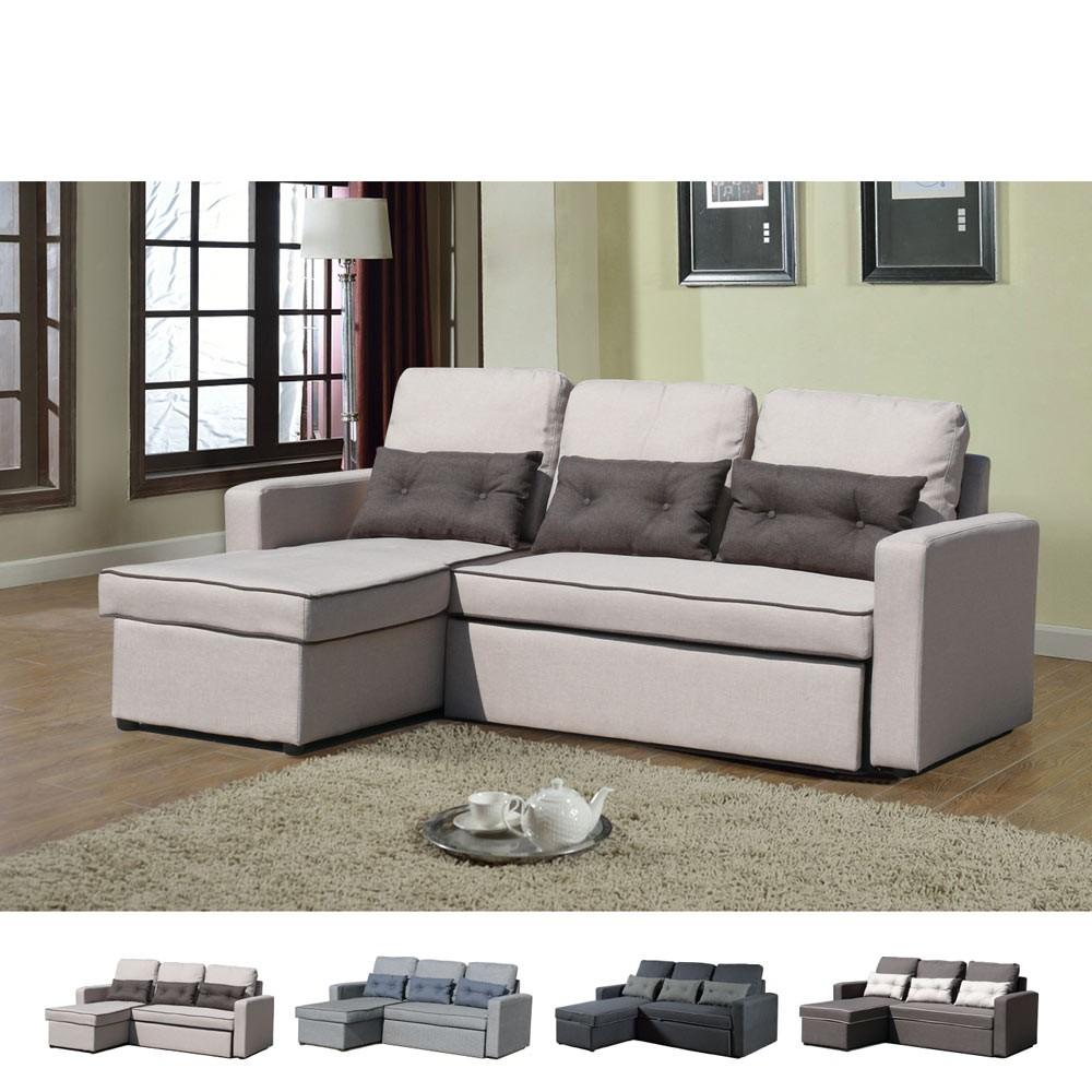 Divano letto penisola ad angolo modulare 3 posti e cuscini smeraldo soggiorno ebay - Divano letto ebay ...