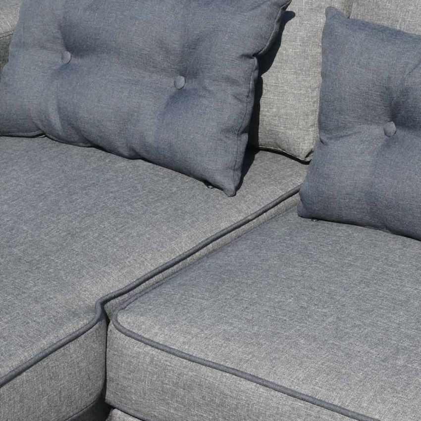 Divano letto con penisola ad angolo modulare 3 posti e cuscini smeraldo per sogg ebay - Cuscini per divano letto ...