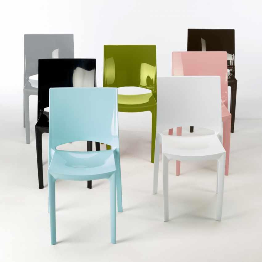 Sedie per cucina e bar lucida Grand Soleil SUNSHINE Design Moderno in Polipropilene - scontato