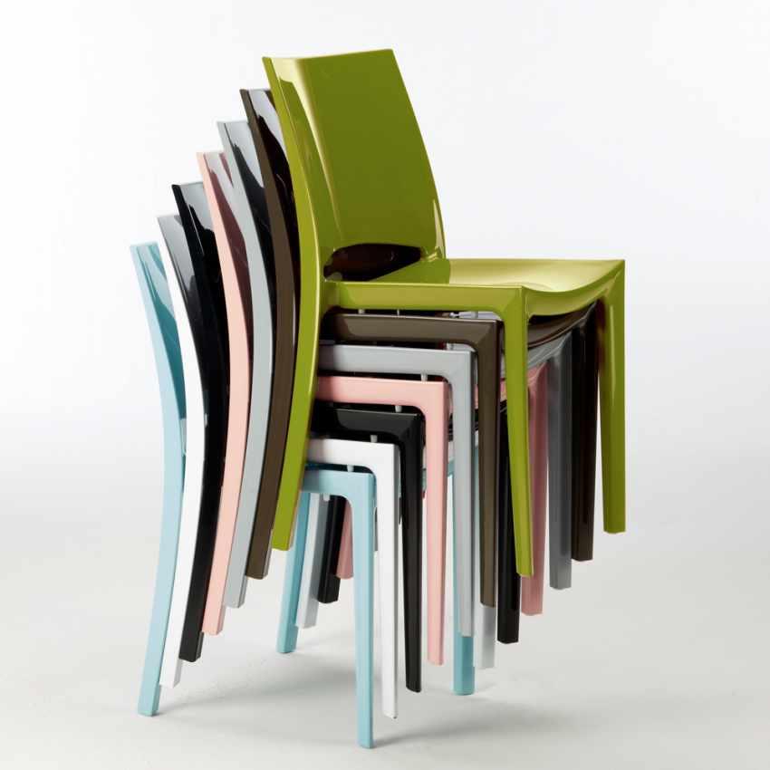 Sedie per cucina e bar lucida Grand Soleil SUNSHINE Design Moderno in Polipropilene - foto