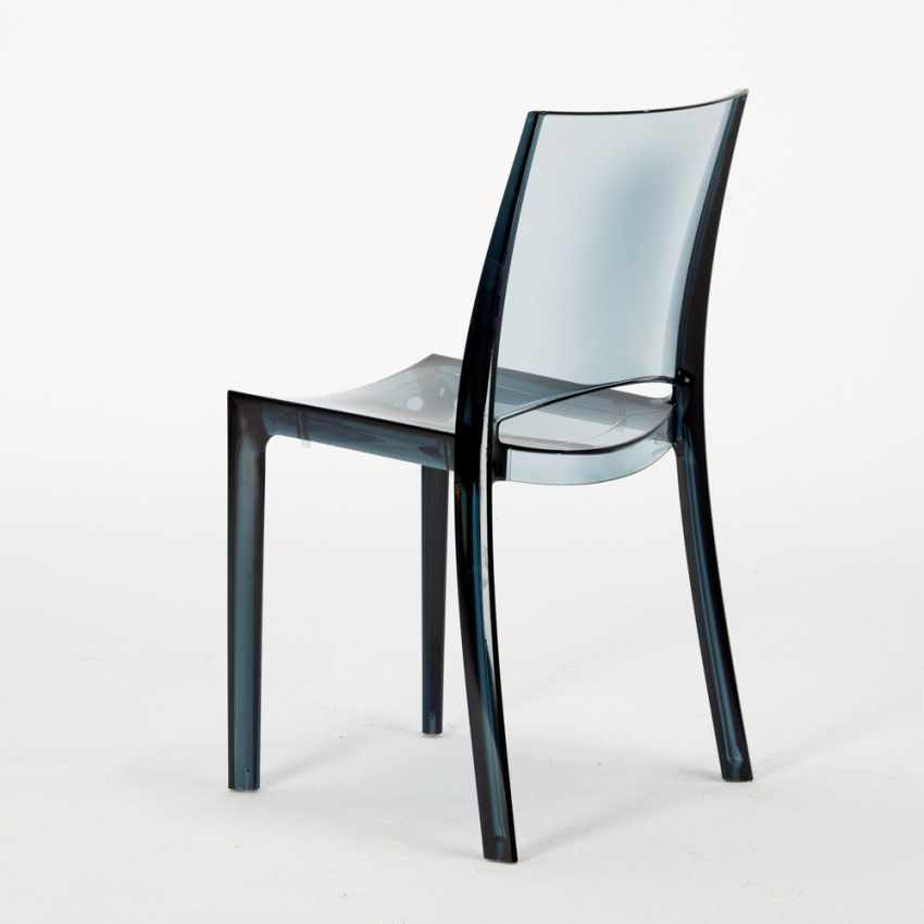 Tavolino Rotondo bianco 70x70cm Con 2 Sedie Colorate Interno Bar B-SIDE SPECTRE - scontato