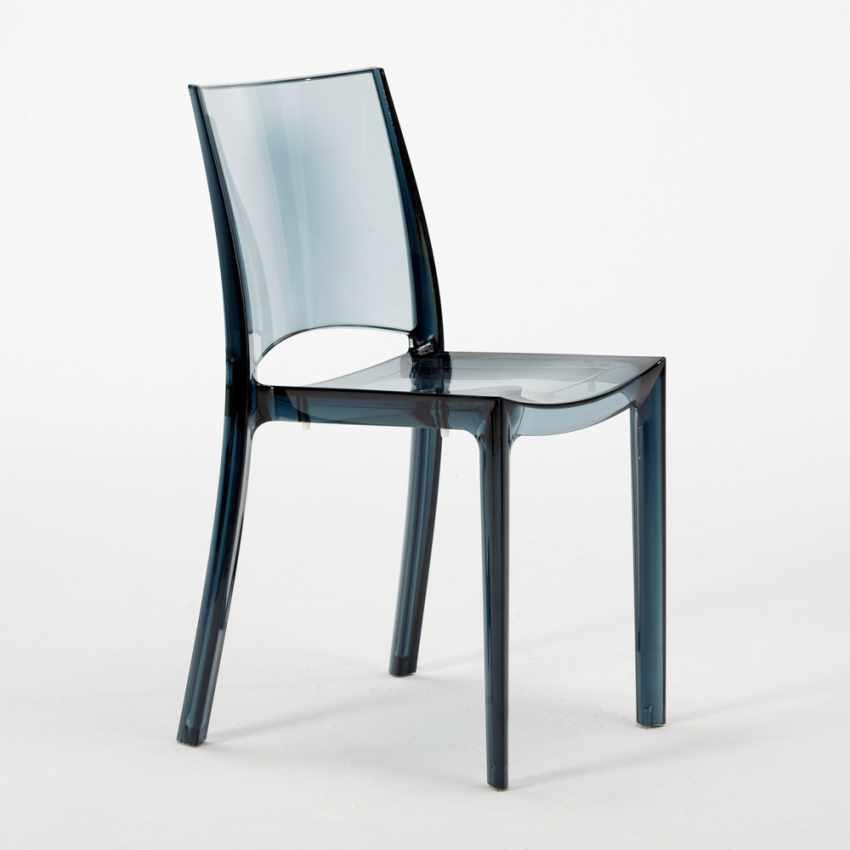 Tavolino Rotondo bianco 70x70cm Con 2 Sedie Colorate Interno Bar B-SIDE SPECTRE - foto