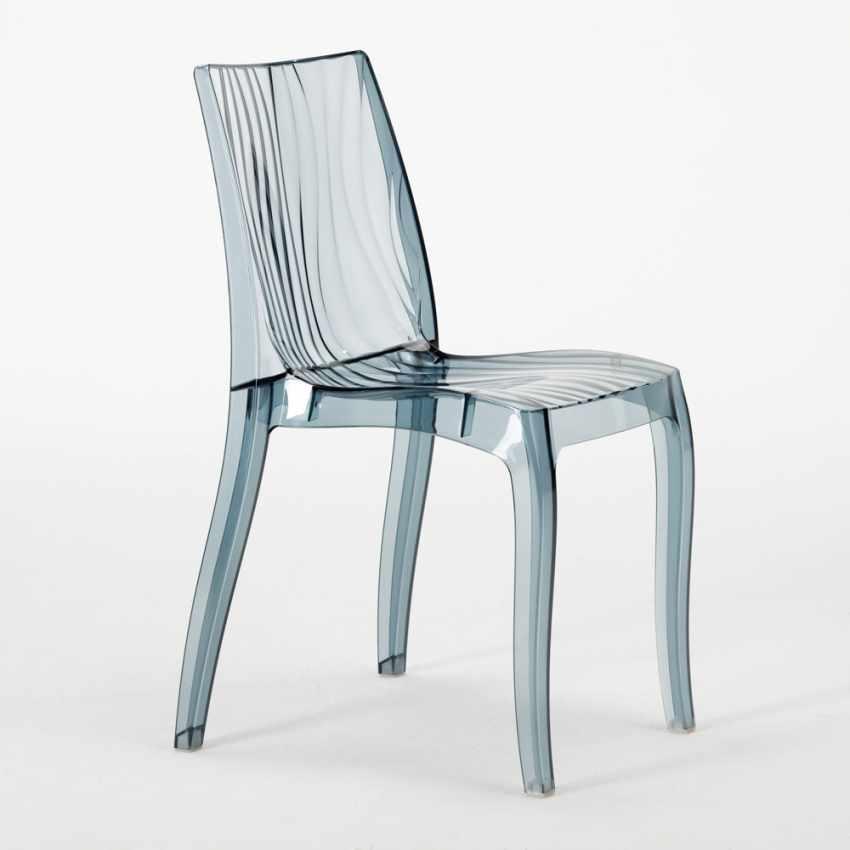 Tavolino Quadrato bianco 70x70cm Con 2 Sedie Colorate Interno Bar DUNE TERRACE - arredamento