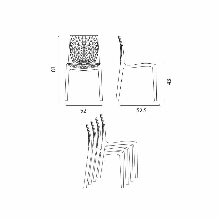 Tavolino Rotondo Bianco 70x70cm Con 2 Sedie Colorate Interno Bar GRUVYER LONG ISLAND - promo