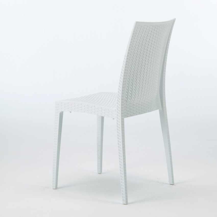 Tavolino Quadrato Nero 90x90 Con 4 Sedie Esterno Bar BISTROT PASSION - promo