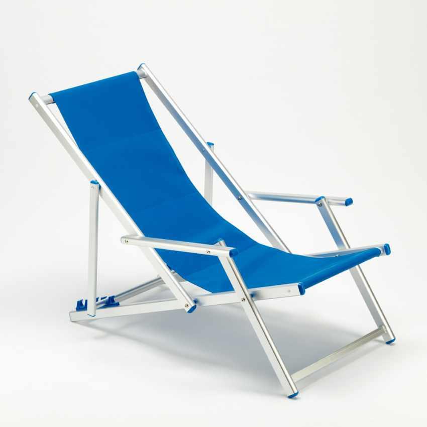 Sedia A Sdraio Alluminio.Dettagli Su Sedia Sdraio In Alluminio Con Braccioli Ii Scelta