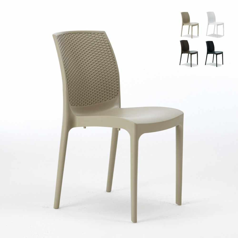 Sedie In Plastica Da Giardino Prezzi.20 Boheme Grand Soleil Sedie Plastica Poly Rattan Bar Ristorante