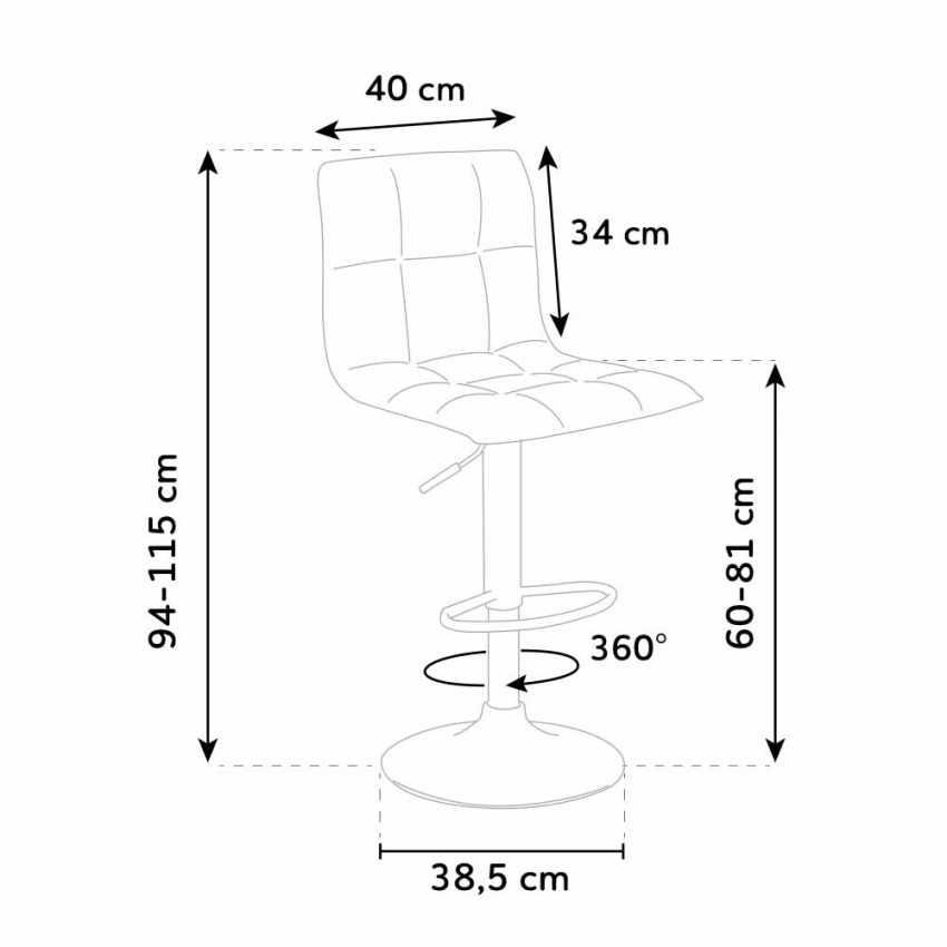 Sgabello alto in tessuto per cucina e bar PHOENIX design - arredamento