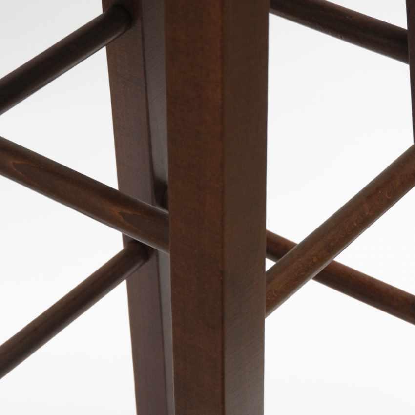 Sgabello in legno massello alto per bar e cucina BERLIN - vendita