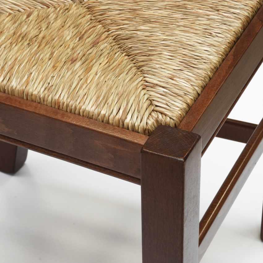 Sedia in legno con seduta impagliata per cucina e sala da pranzo SILVANA - vendita