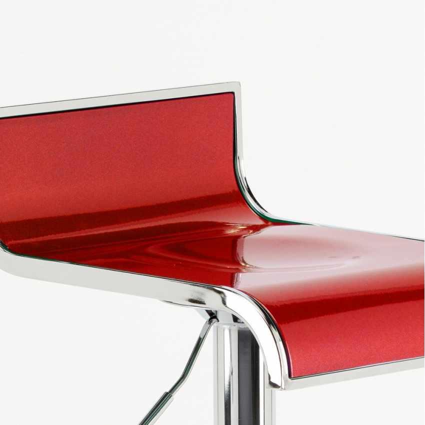 sgabello da bar ergonomico economico rosso